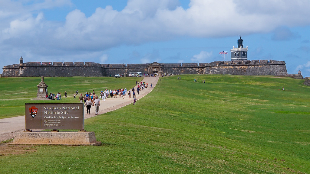 Castillo San Felipe del Morro - Puerto Rico's geographic position at the western edge of the Caribbean made San Juan one of the key frontier outposts of Spain's territories. Continually improved over 250 years, it was key for defending the Spainish empire over its 400 year rule.
